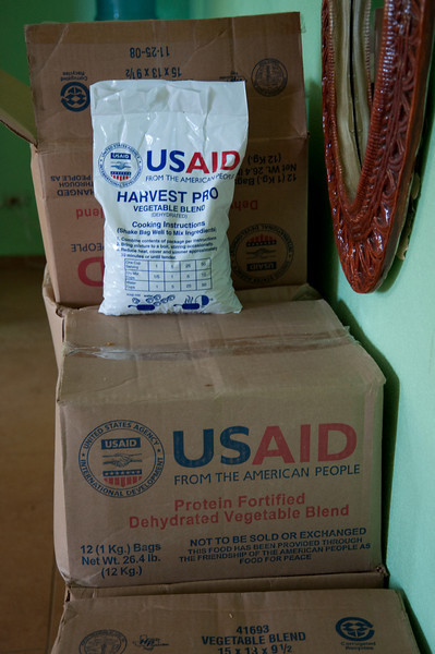 I was interested to see these USAID boxes - I'd heard about them but never seen them before.  These were being held at the Esperanza office