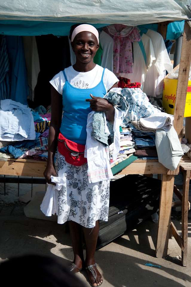 This lady is half haitian and half dominican.  She appeared to be doing quite well and was quite the saleslady.