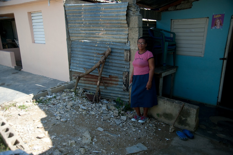 This woman has had a microfinanced business for 3 months.  Her dream is to get RD$100,000 (US$3,000) to expand her home based store in this space in front of her house.