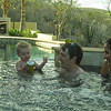 A family that hot tubs together