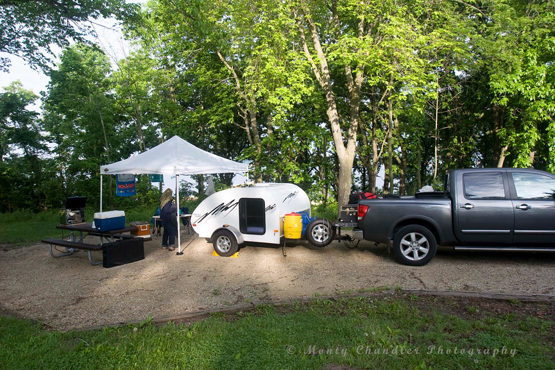 Campsite just outside of Des Moines, Iowa..  On a large lake..  Night 3..