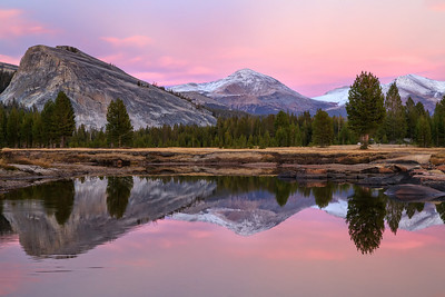 Sunset in Tuolumne Meadows, Yosemite National Park, California, USA