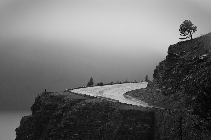 A stormy day in Glacier National Park, Montana, USA