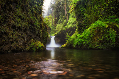 Upper Punch bowl falls, Columbia river gorge, Oregon, USA