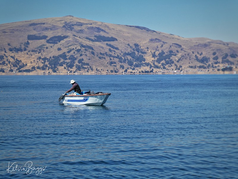 Fisherman on Lake Titicaca