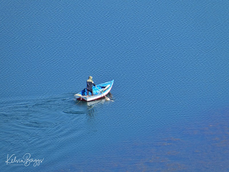Boat on Lake Titicaca