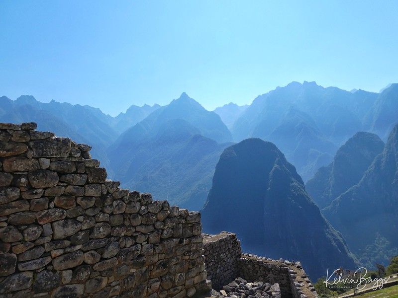 Machu Picchu - looking towards mountain range