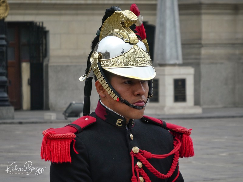 Guard at Government Palace, Lima