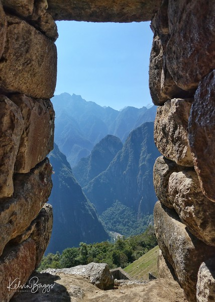 Machu Picchu - through a window