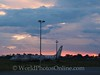 Iquitos airport at Sunset