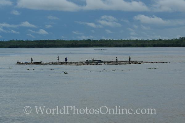 Amazon River - Log Raft for market