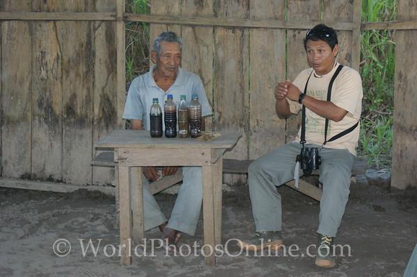 Amazon River - Village of San Jose de Parandpura - Shaman