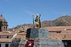 Cusco - Plaza de Armes - Inca King Status