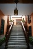 Lima - Aliaga House - stairs to house entry from outer door