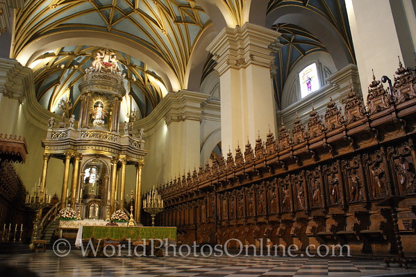 Lima - Cathedral - Main Altar and Raredos