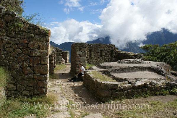 Inca Trail - half way between Machu Picchu and Sun Gate 2