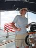 Mike piloting the Kestrel in Baltimore