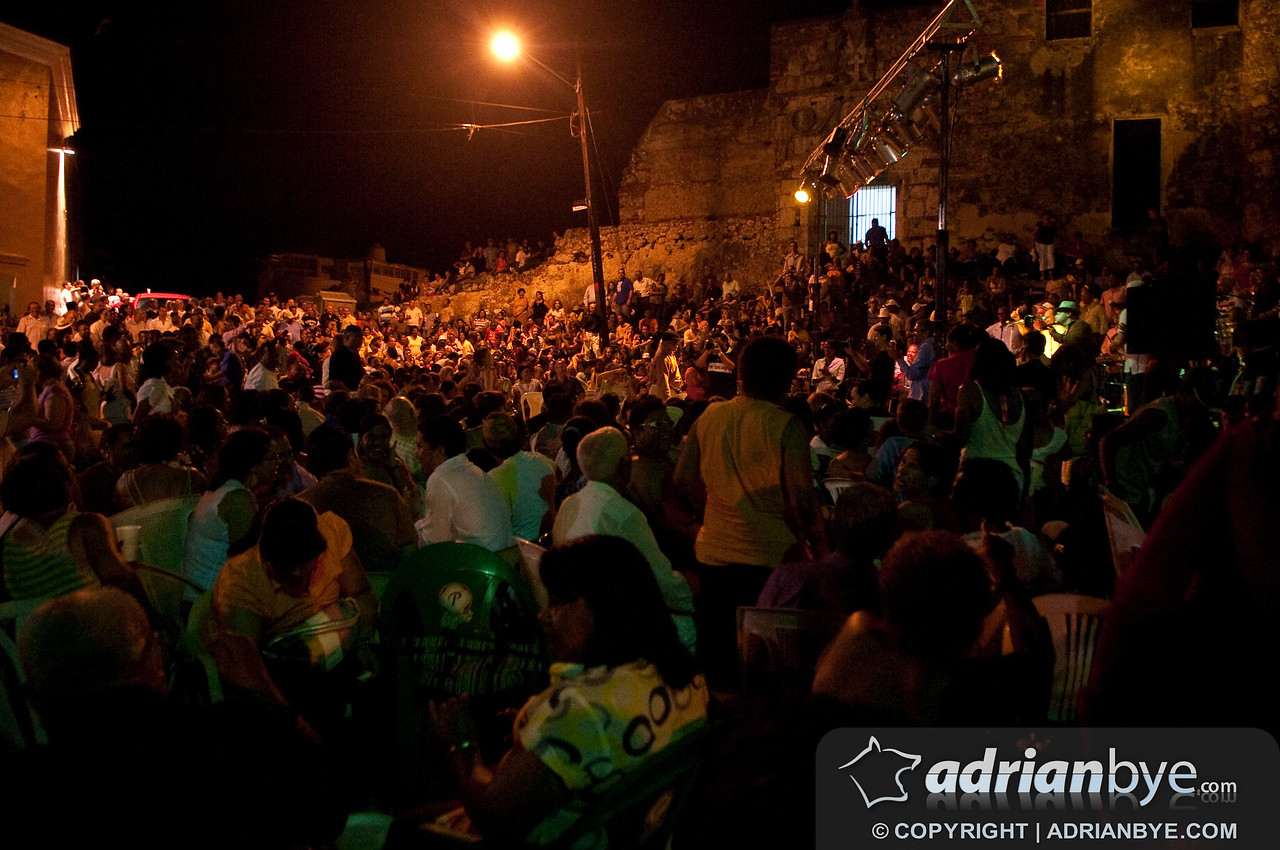 A lot of people at the cuban music festival