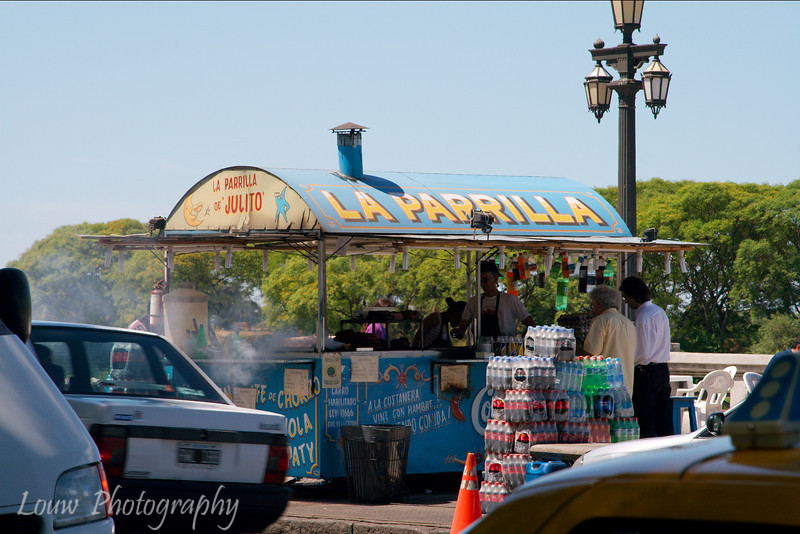 La Parrilla food stall in Puerto Madero, Buenos Aires, Argentina