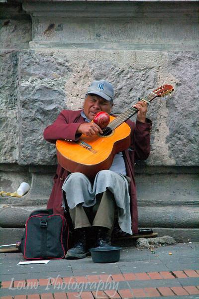 Street musician, Quito, Ecuador