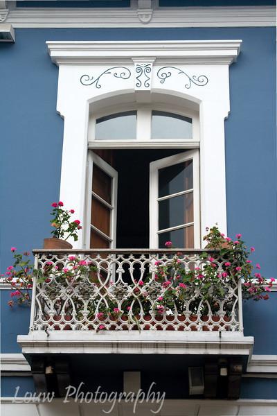 Decorative window, Quito, Ecuador