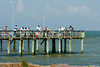 Lighted fishing pier at the end of the Texas City Dike