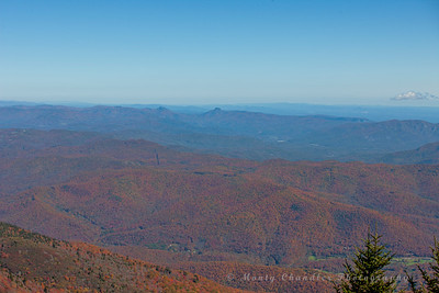 Table Rock from the summit of Mt Mitchell