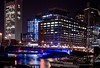 Images of the city of Boston at night