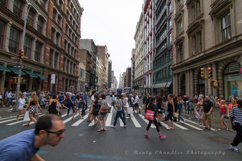 SOHO Tourists at the intersection of Prince ST & Broadway