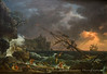 Oil on Canvas painting - shipwreck during a storm - National Gallery of Art