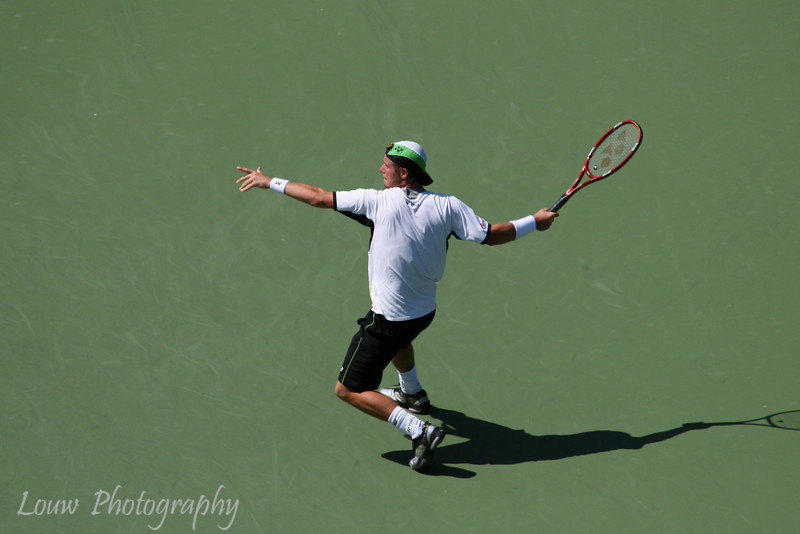 Lleyton Hewitt at the 2009 U.S. Open Round 3 vs. Roger Federer. September 5, 2009.