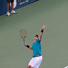 John Isner at the 2009 U.S. Open Round 3 vs. Andy Roddick. September 5, 2009.