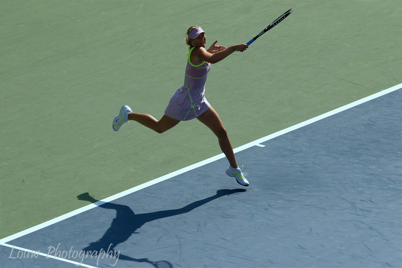 Maria Sharapova at the 2009 U.S. Open Round 3 vs. Melanie Oudin. September 5, 2009.