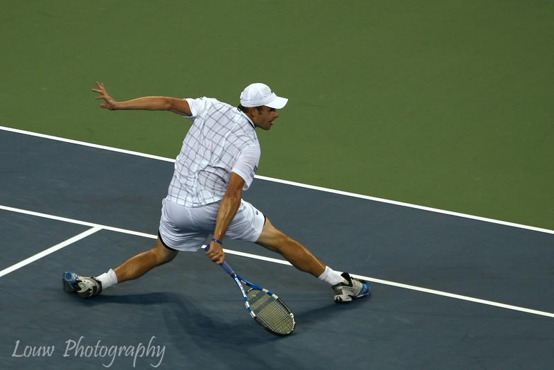 Andy Roddick at the 2009 U.S. Open Round 3 vs. John Isner. September 5, 2009.