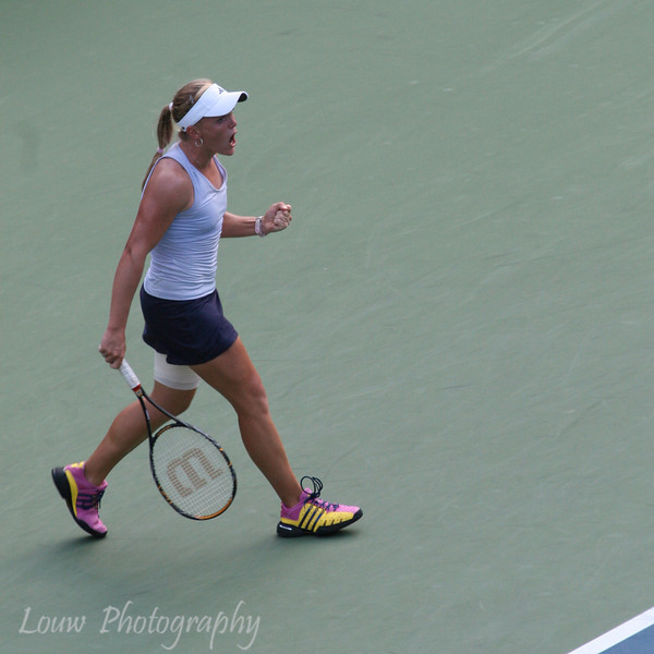 Melanie Oudin at the 2009 U.S. Open Round 3 vs. Maria Sharapova. September 5, 2009.