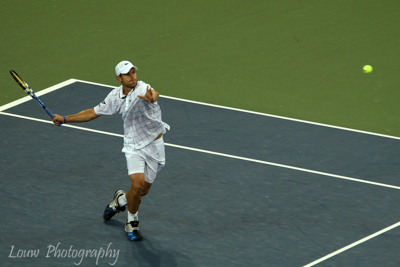Andy Roddick at the 2009 U.S. Open Round 3 vs. John Isner. September 5, 2009.