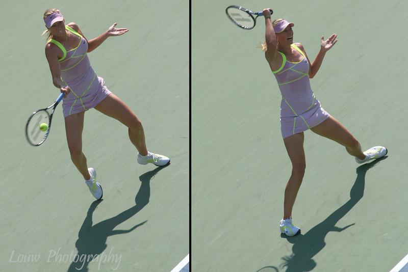 Maria Sharapova at the 2009 U.S. Open Round 3 vs. Melanie Oudin. September 5, 2009.