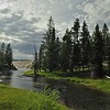 A stream in Yellowstone national park