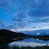 Lake at dusk in the Grand Teton national park, Wyoming, USA