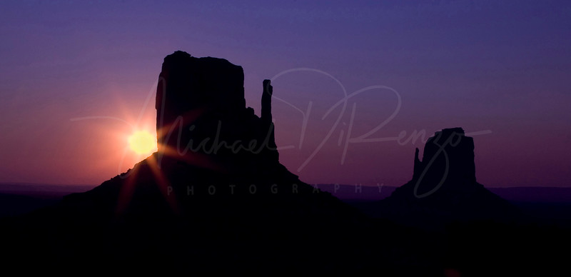 Monument Valley Silhouette  2493