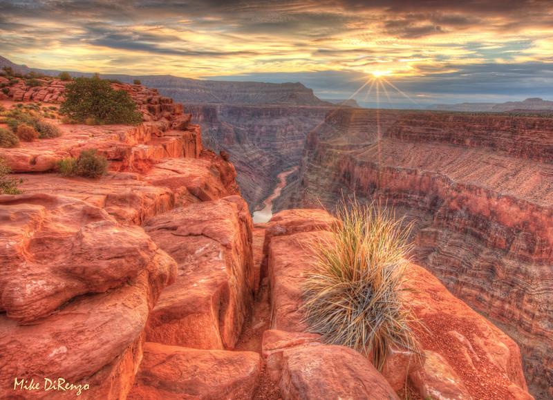 Sunrise Starburst - Toroweap Point - Grand Canyon  6015  w22
