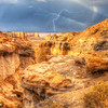 Lightning in Coal Mine Canyon   6313  w21