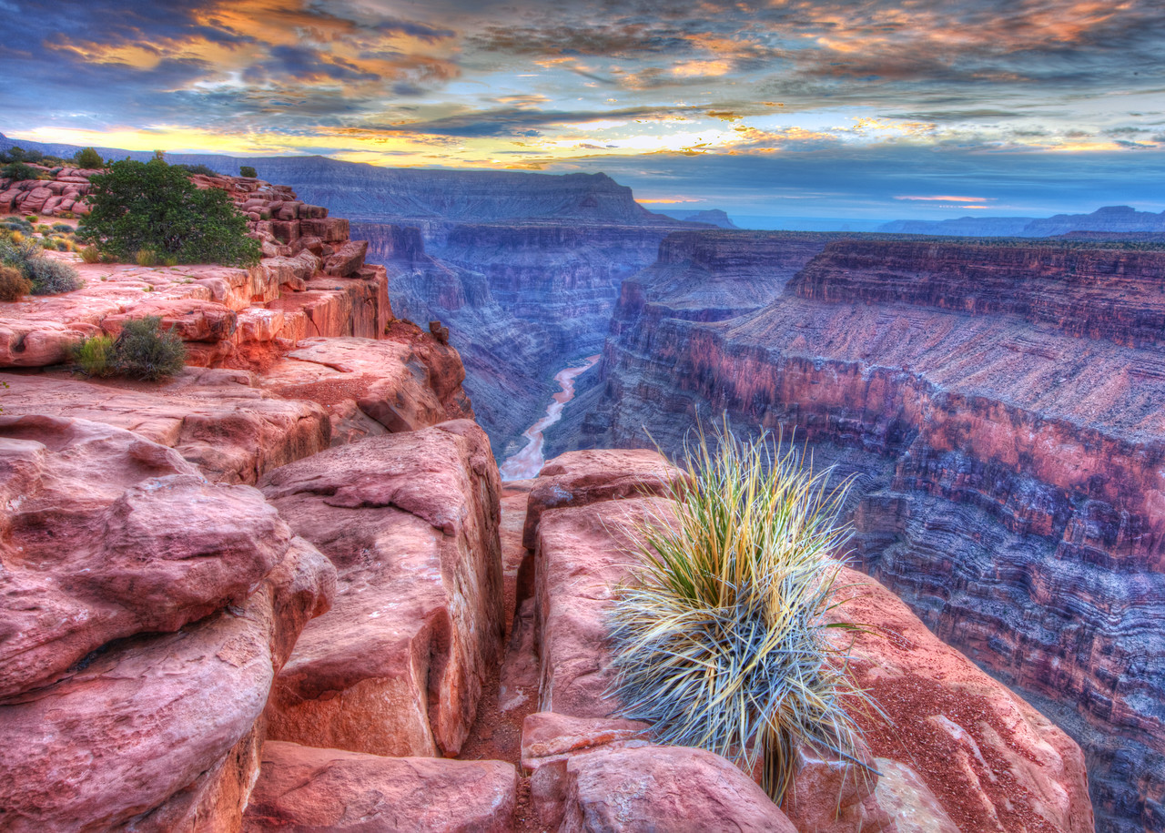 Desert Daybreak -  Sunrise from Toroweap Point on the North Rim of the Grand Canyon