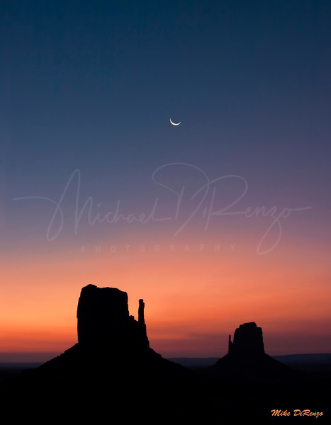 The Mittens at Sunrise in Monument Valley Utah  2408 w29