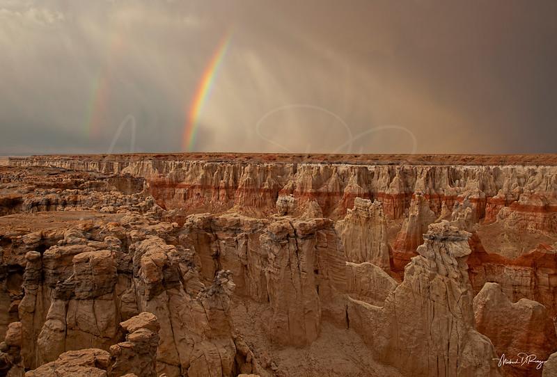 Double Rainbow in Coal Mine Canyon 6403 w65