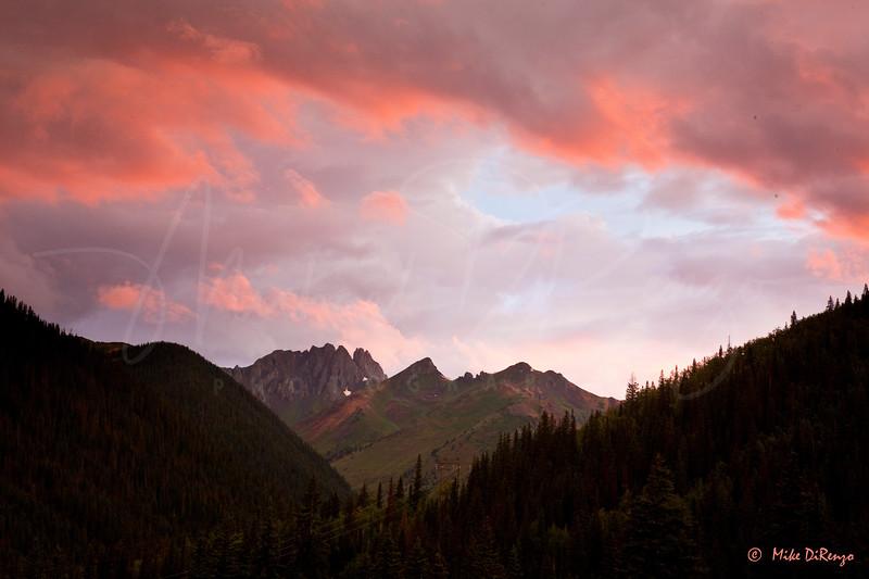 La Sal Mountains,  Colorado Sunset ,1119, lanscape, scenic, sundown, trees, clouds,