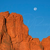Garden of the Gods and Moon   near Colorado Springs Colorado