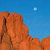 Garden of the Gods and Moon   near Colorado Springs Colorado