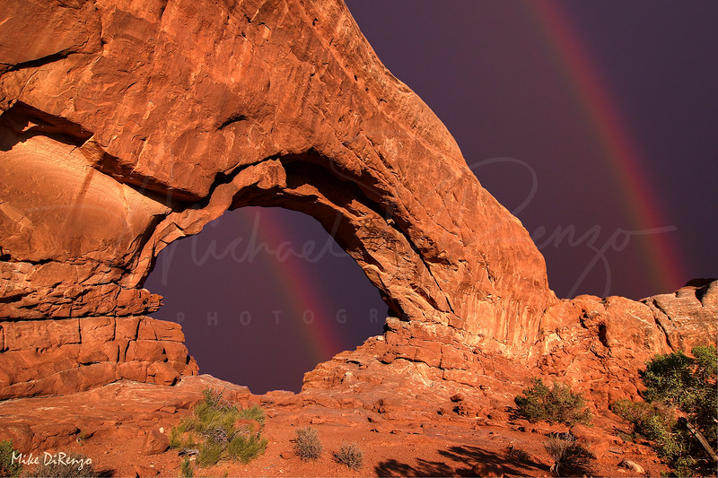 South Window Rainbow Sunset   1813  w24