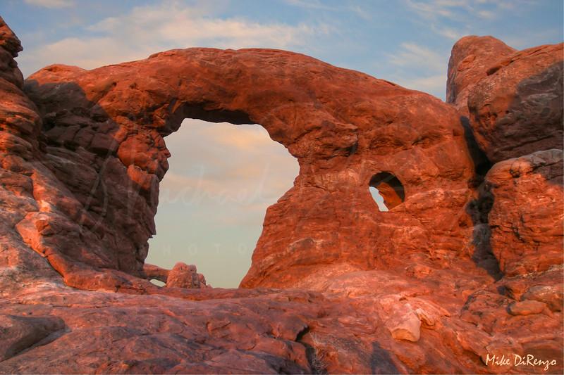 Behind Turret Arch   2116  w25
